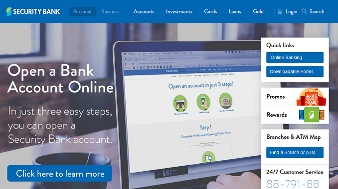 How to Open a Security Bank Savings Account