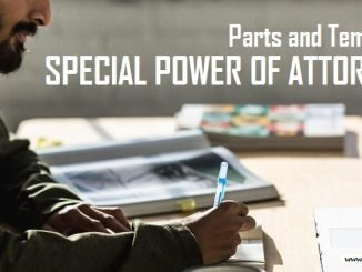 Special Power of Attorney (Parts and Template)